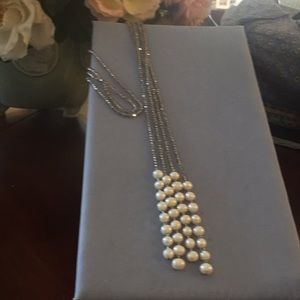 Jewelry - Chrystal and gen. FWP double strand necklace